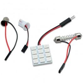 Universel LED Panel Kabinelys, 12 SMD 5050, 6000-6500K