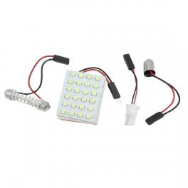 Universel LED Panel Kabinelys, 24 SMD 5050, 6000-6500K